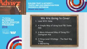 Building trust & authority - traffic and lead generation from Facebook & Instagram